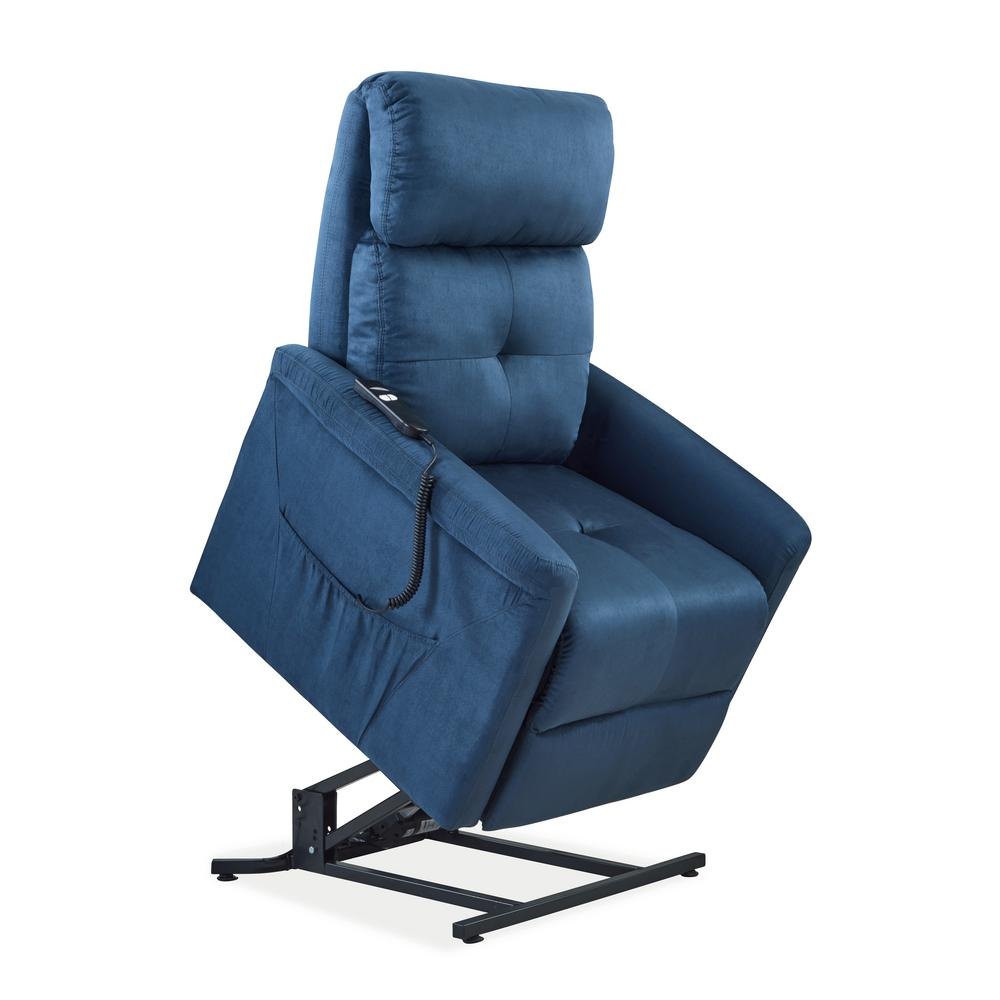 ProLounger Blue Microfiber Power Recline And Lift Chair