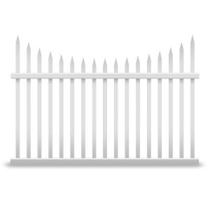 Vinyl Fence Panels 42 in. h x 92 in. w manchester semi-permanent vinyl fence panel