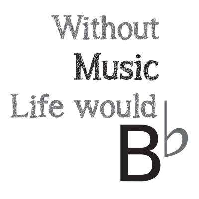 Black Life Without Music Decal Wall Quote