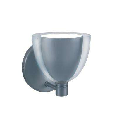1-Light Low-Voltage Chrome/White Companion Wall Sconce
