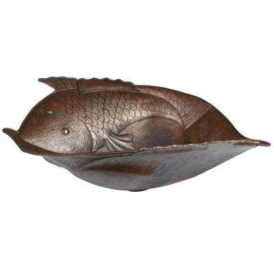 Two Fish Hammered Copper Vessel Sink in Oil Rubbed Bronze