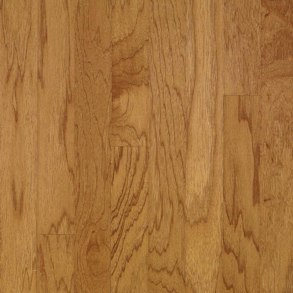 Bruce Take Home Sample - Hickory Autumn Wheat Engineered Hardwood Flooring - 5 in. x 7 in.