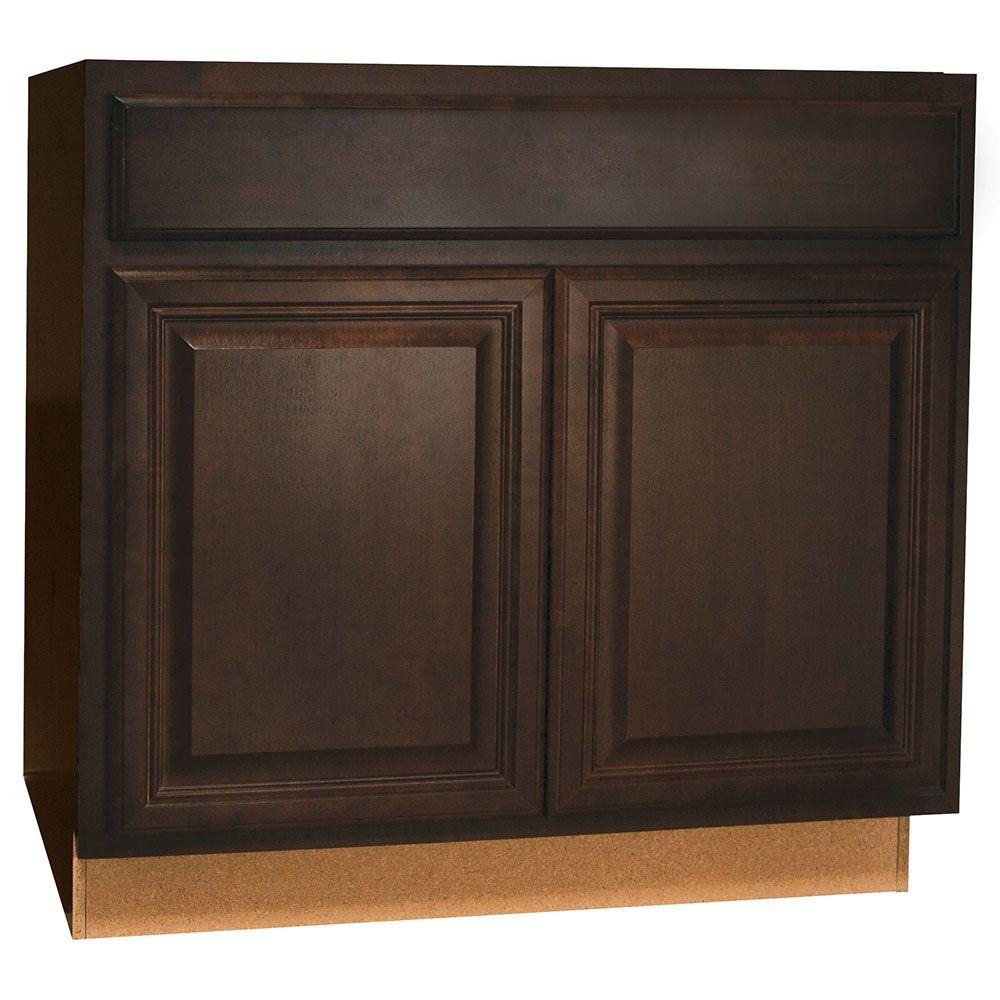 Hampton Bay Cambria Assembled 36x34.5x24 in. Base Kitchen Cabinet ...