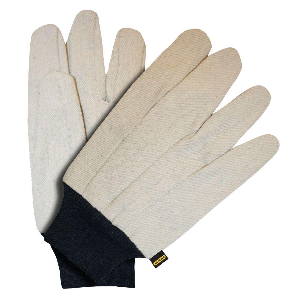 Stanley Cotton Large Canvas Glove with Blue Knit Wrist (6-Pair)