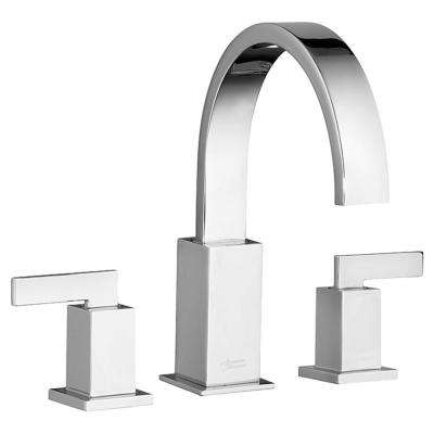 Times Square 2-Handle Deck-Mount Roman Tub Faucet for Flash Rough-in Valves in Polished Chrome