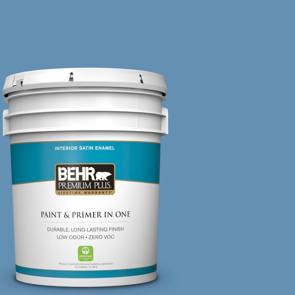 5-gal. #M510-4 Brittany Blue Satin Enamel Interior Paint