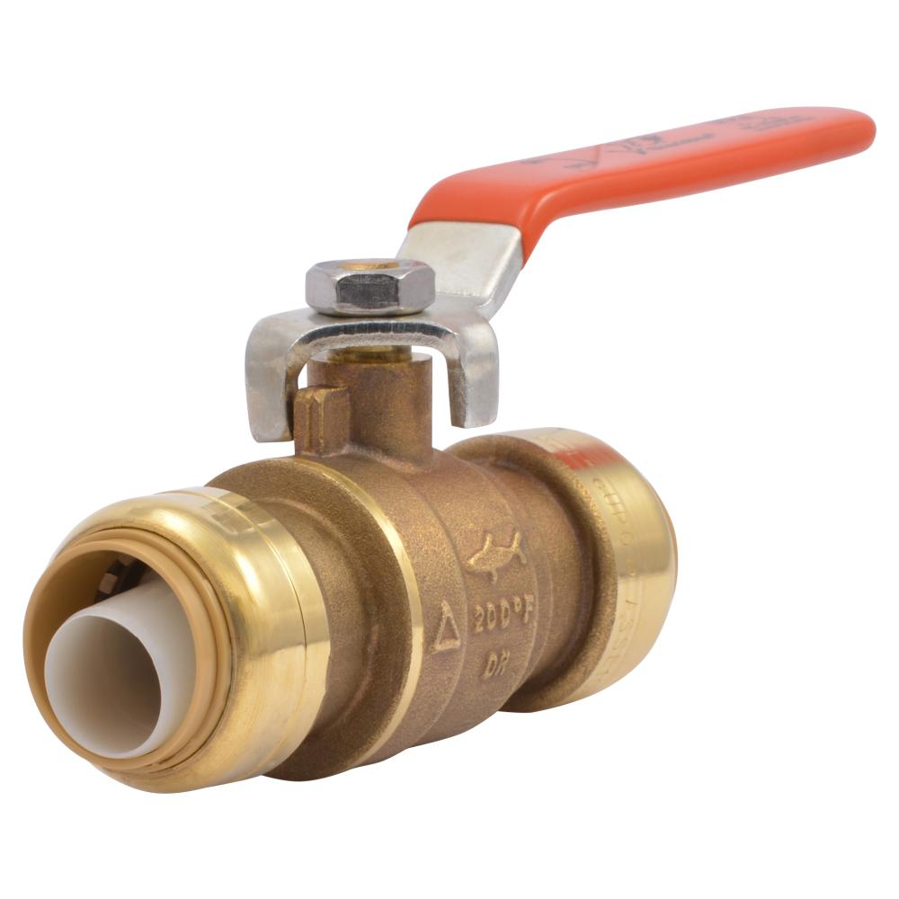 Sharkbite 3 4 In Brass Push To Connect Ball Valve 22185