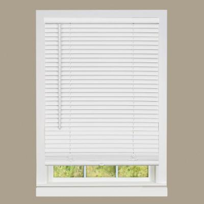 GII Deluxe Sundown White Cordless Room Darkening Vinyl Mini Blind with 1 in. Slats 36 in. W x 64 in. L