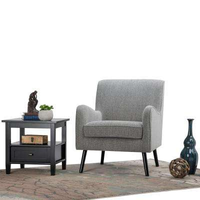 Dysart Grey Tweed Fabric Club Arm Chair