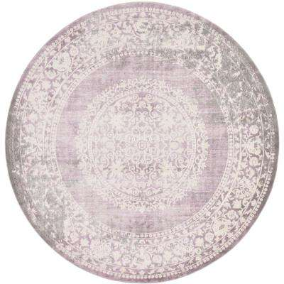 New Classical Olwen Purple 8' 0 x 8' 0 Round Rug