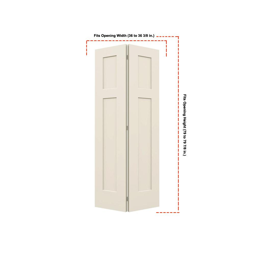 Steves Sons 36 In X 80 In Composite Unfinished Flush: Steves & Sons 36 In. X 80 In. 2-Panel Round Top Smooth