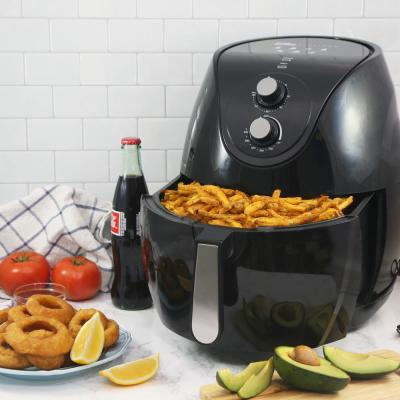 Elite Platinum 7 Qt. XL Deluxe Air Fryer with Adjustable Timer and Temperature in Black