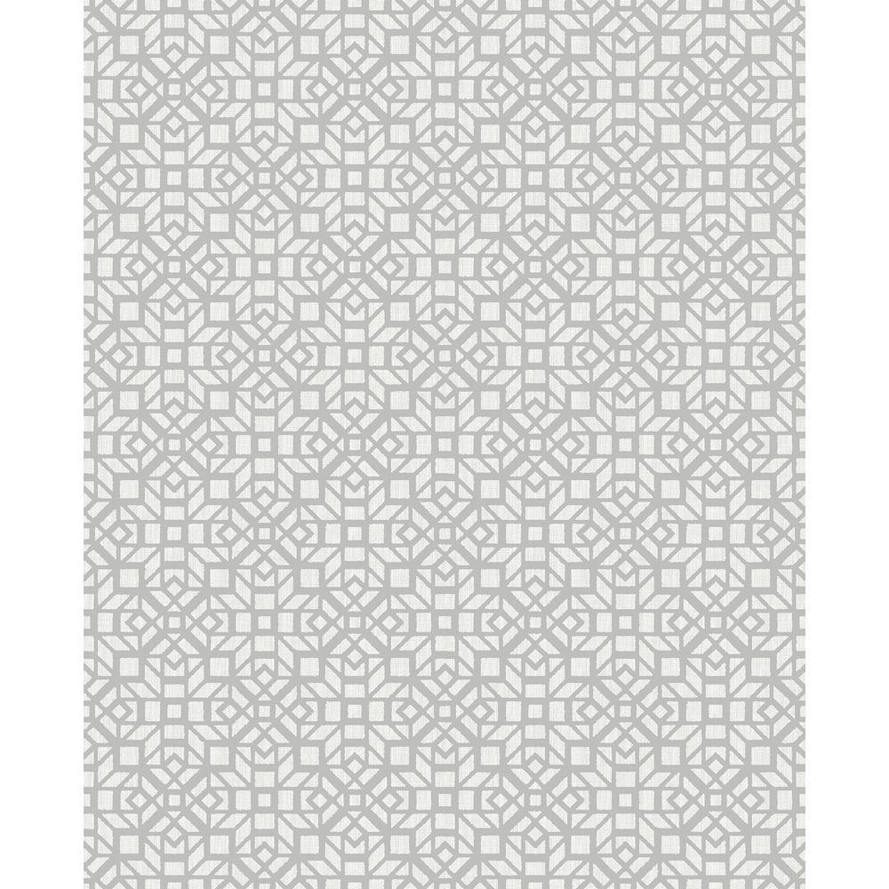 A-Street Element Grey Mosaic Wallpaper 2716-23845