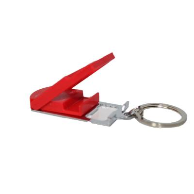 Micro-Light Smartphone Stand with Key Chain in Red, Bottle Opener, Microlight, Can Opener, Mobile Phone Stand
