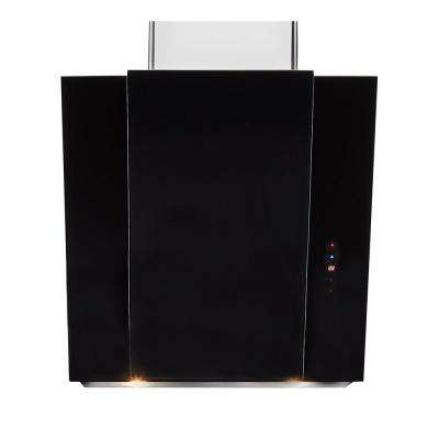 24 in. Convertible Slanted Chimney Vent Island with Light in Black