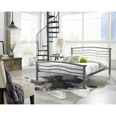 Gastonia Matte Grey Queen Platform Bed