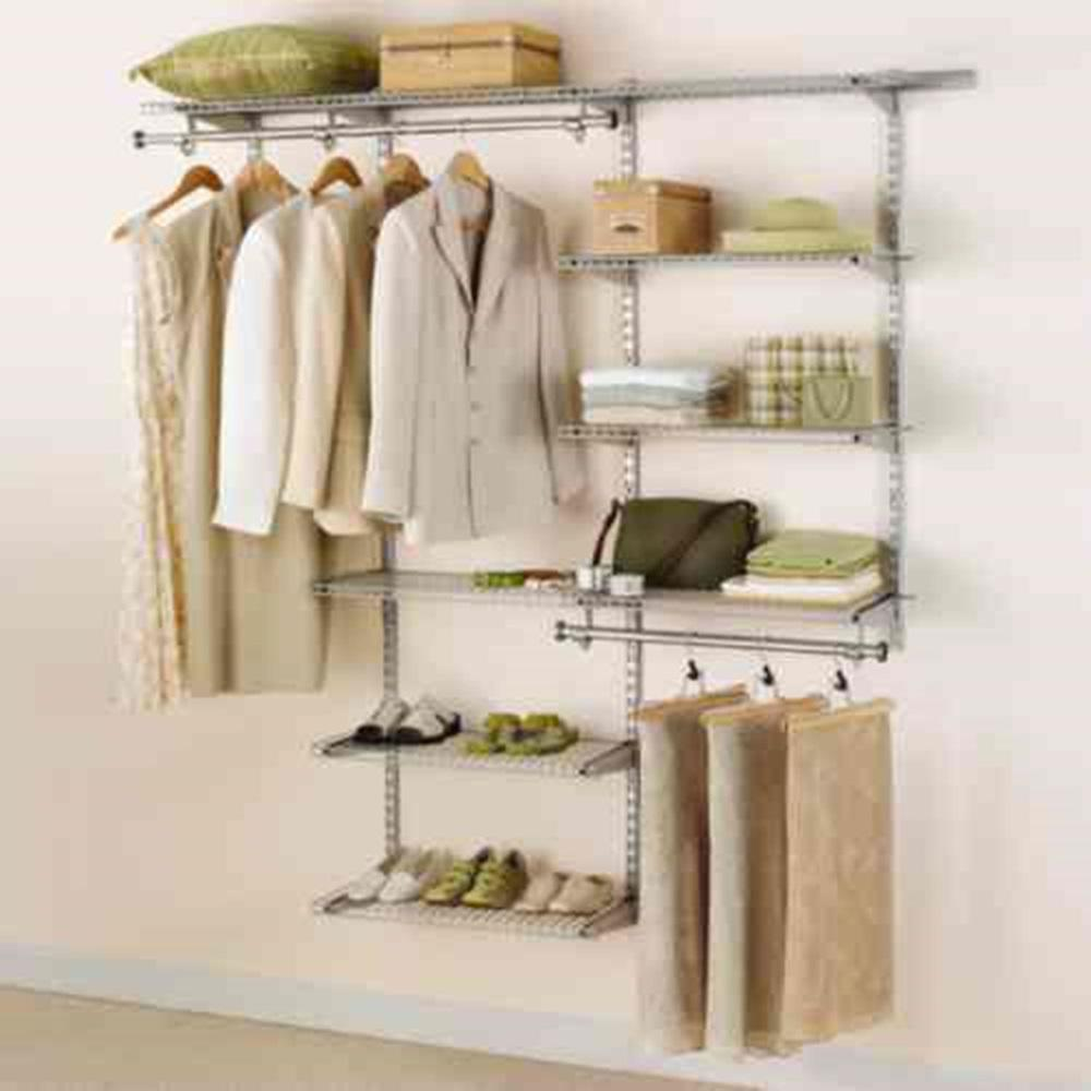Great H Configurations Custom Metal Closet System 3   6 Ft. Deluxe  Kit FG3H8800TITNM   The Home Depot