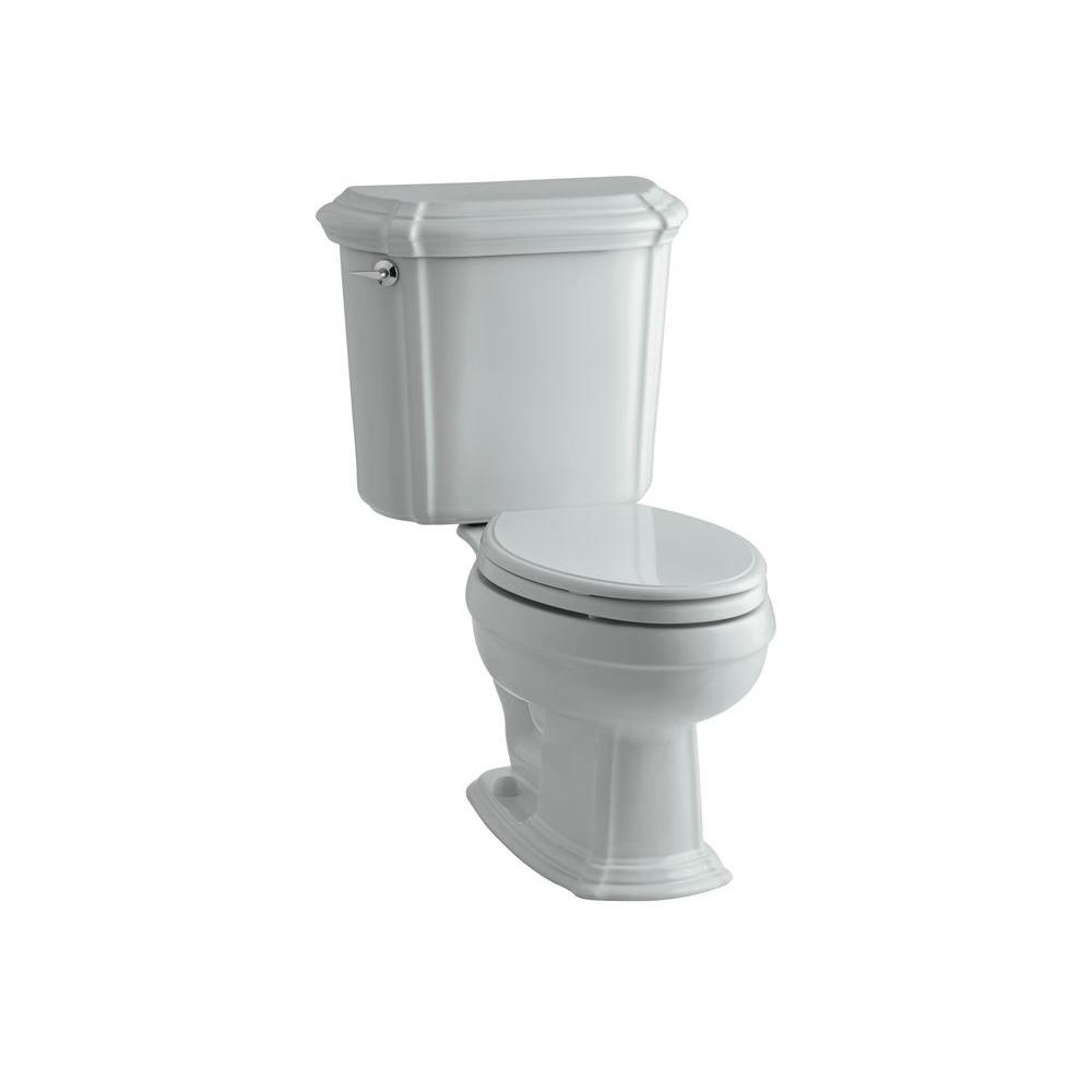 KOHLER Portrait 2-Piece 1.6 GPF Elongated Toilet in Ice Grey