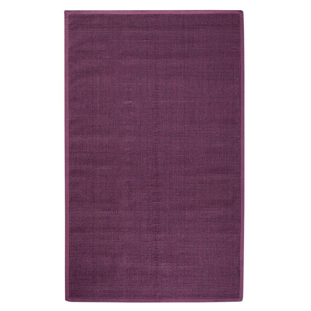 Home Decorators Collection Woolen Jute Eggplant 5 ft. 6 in. x 8 ft. 6 in. Area Rug