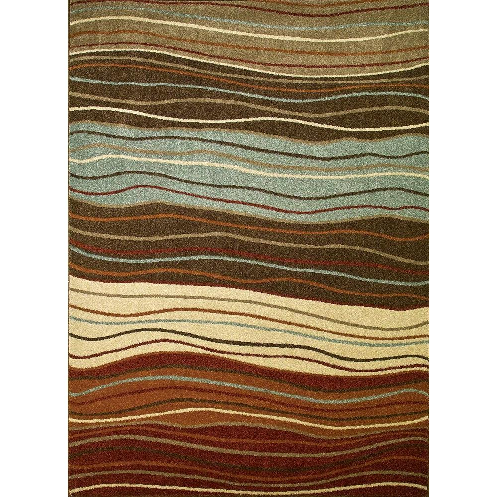 Chester Waves Multi 3 ft. 3 in. x 4 ft. 7