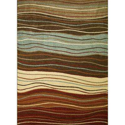 Chester Waves Multi 6 ft. 7 in. x 9 ft. 3 in. Area Rug