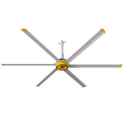 3025 10 ft. Indoor Yellow and Silver Aluminum Shop Ceiling Fan with Wall Control