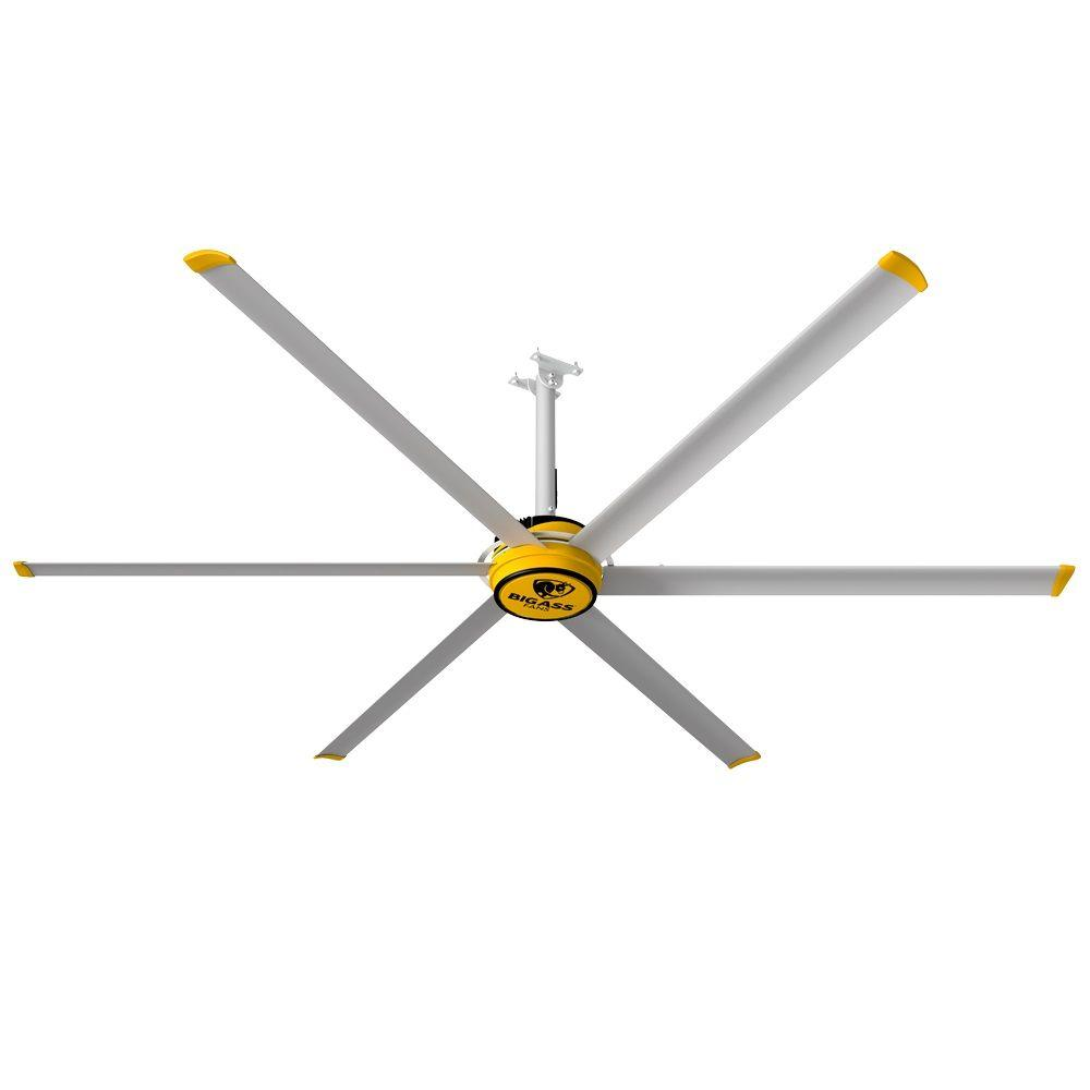 Big ass fans 3025 10 ft indoor yellow and silver aluminum shop big ass fans 3025 10 ft indoor yellow and silver aluminum shop ceiling fan with aloadofball Image collections