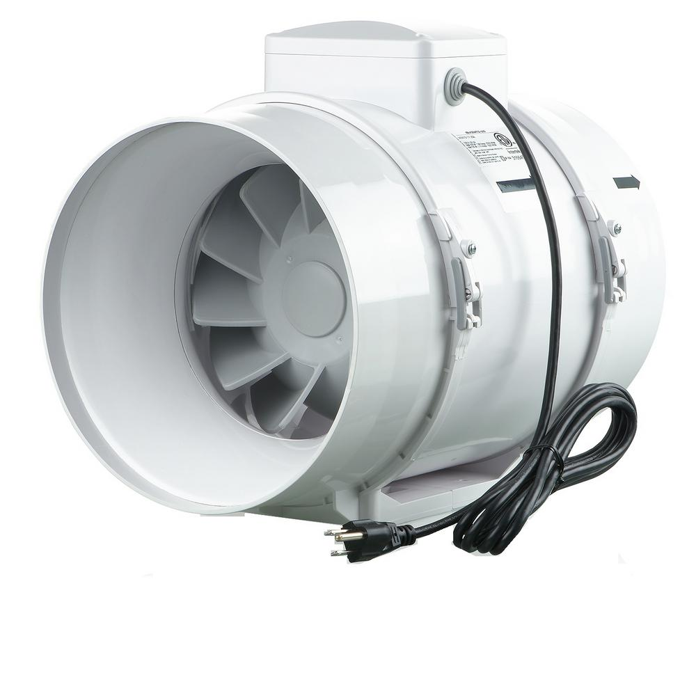 Vents 473 Cfm Power 8 In Mixed Flow Line Duct Fan