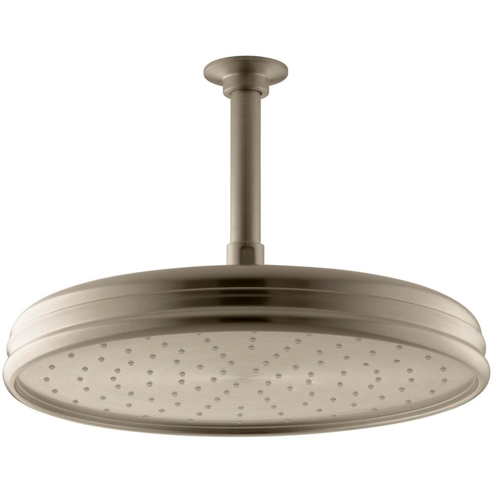 KOHLER Traditional 1-Spray 8 in. Round Rainhead Showerhead in Vibrant Brushed Bronze
