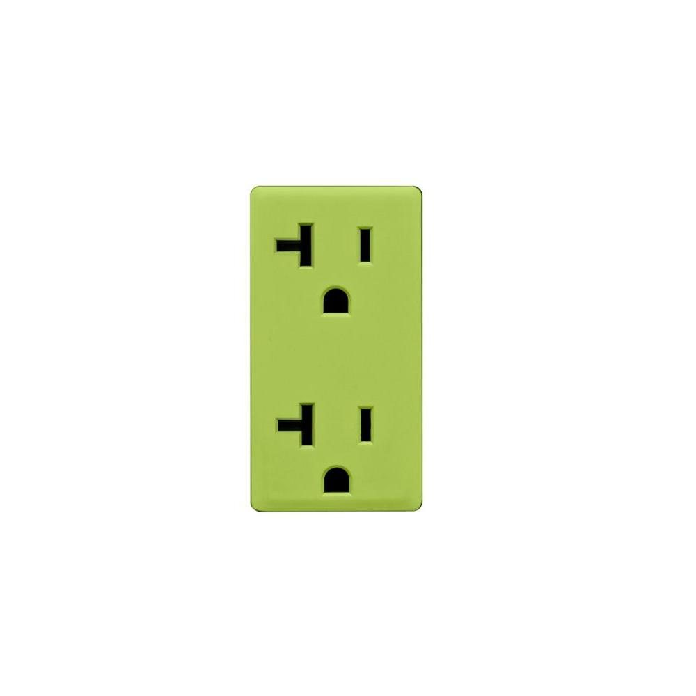 Leviton Renu 20-Amp Granny Smith Apple Outlet Color Change Kit-DISCONTINUED