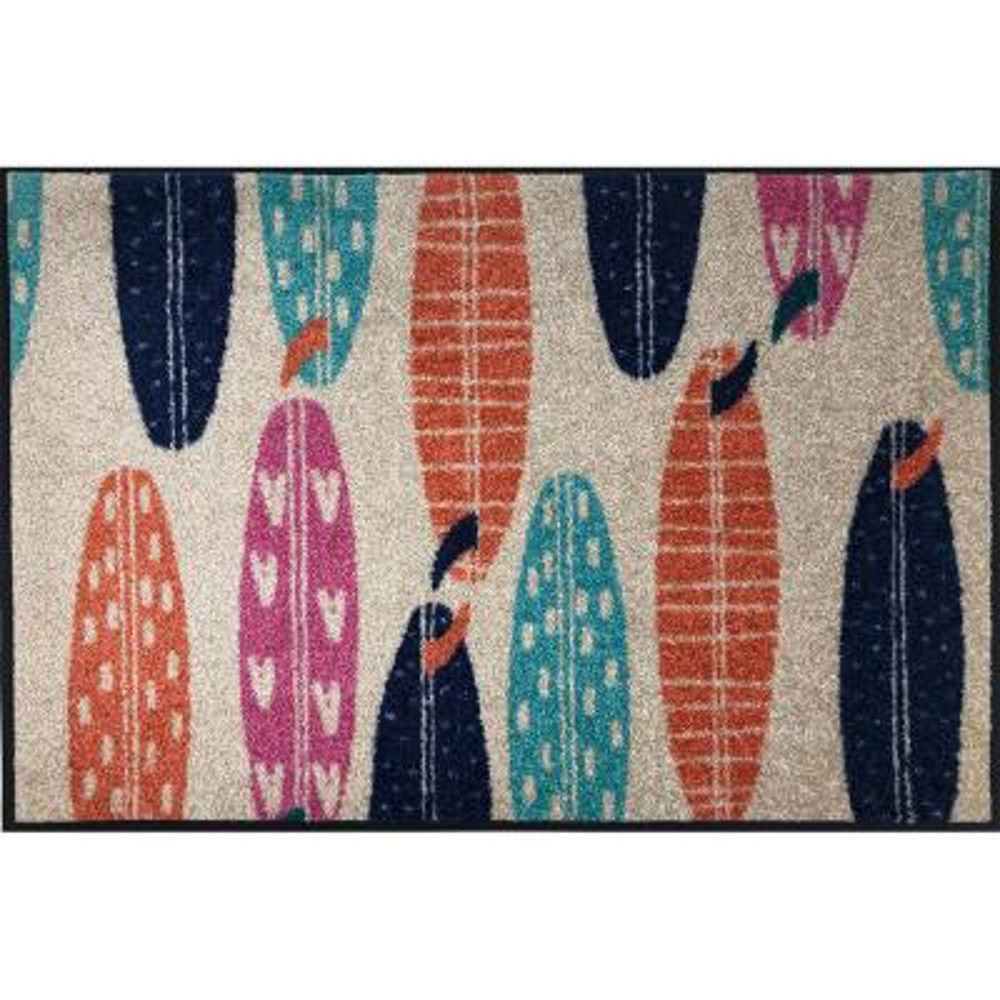 Whimsy Hang Ten 20 in. x 30 in. Nylon Doormat