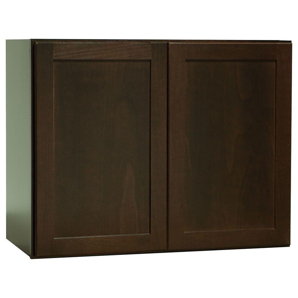 Hampton Bay Kitchen Cabinet Specifications: Hampton Bay Shaker Assembled 30x23.5x15 In. Wall Bridge