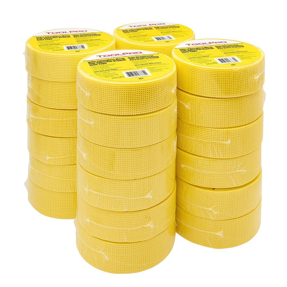 Yellow Fibergl Self Adhesive Mesh Tape Tp03385