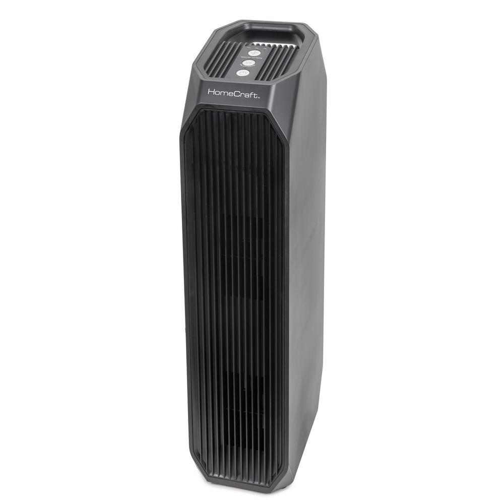 HomeCraft HCAPTPBC31FUVBK Instant Clean 3-In-1 Air Purifier