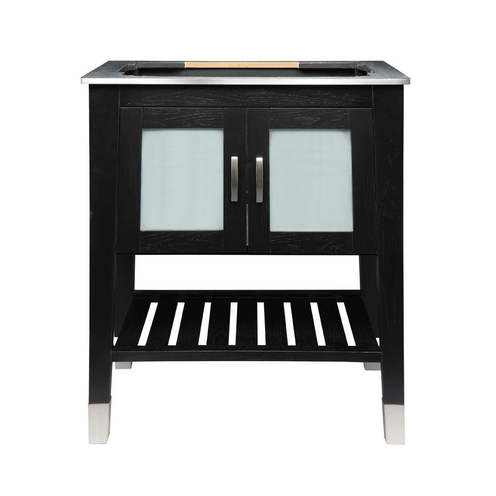 Briana 30.50 in. W x 21.75 in. D x 35.63 in. H Birch Vanity Cabinet Only in Black