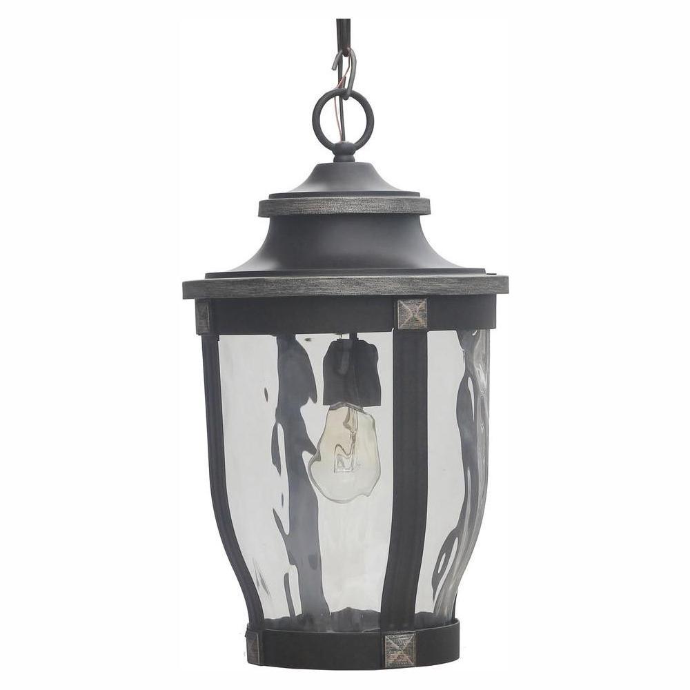McCarthy 1-Light Bronze Outdoor Chain Hung Lantern