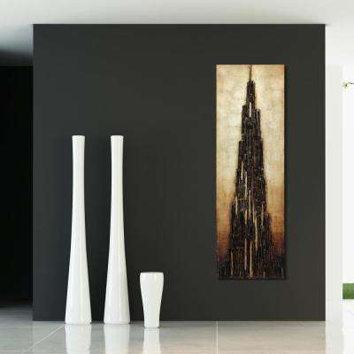 "72 in. x 22 in. ""Stratified"" Mixed Media Wooden Hand Painted Dimensional Wall Art"