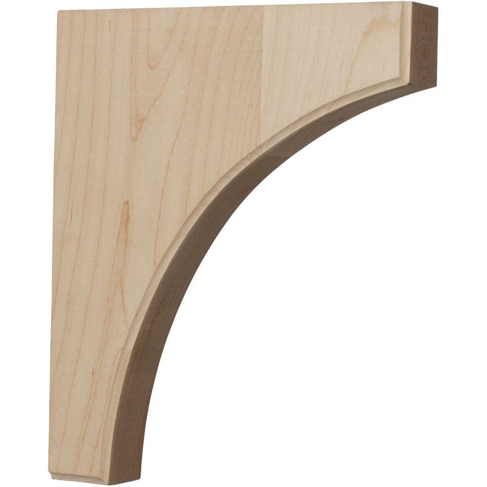 1-3/4 in. x 10 in. x 12 in. Unfinished Wood Walnut Clarksville Corbel