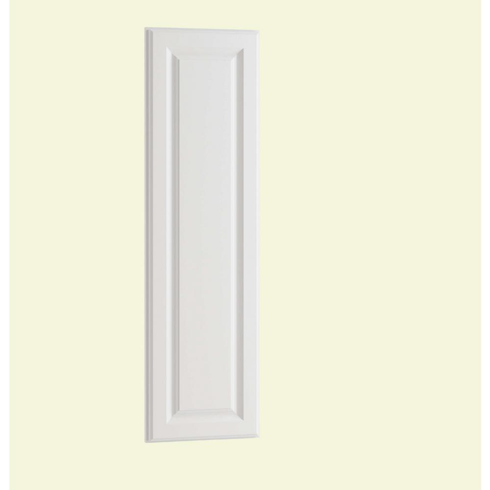 Home Decorators Collection Hallmark Assembled 12 x 42 x .75 in. Wall End Panel in Arctic White