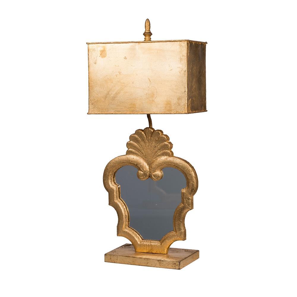 Gold Table Lamp A/&B Home Classic Vintage Fleur-de-lis