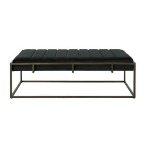 Swell Noble House Magdalene Black Velvet Ottoman Bench With Beatyapartments Chair Design Images Beatyapartmentscom