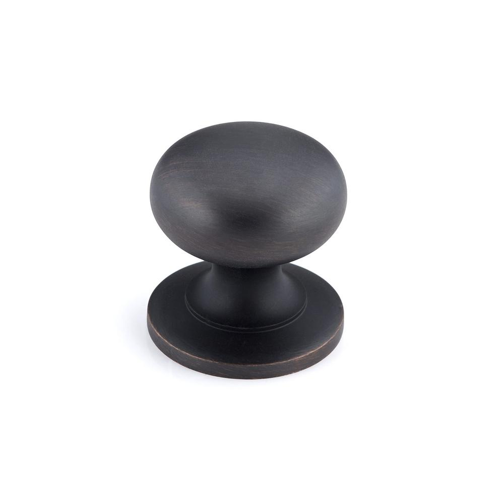 Richelieu Hardware 1-1/4 in. Brushed Oil-Rubbed Bronze Cabinet Knob