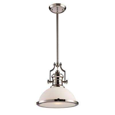 Chadwick 1-Light Polished Nickel Ceiling Mount Pendant