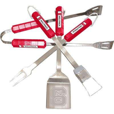 NCAA N. Carolina State Wolfpack 4-Piece Grill Tool Set