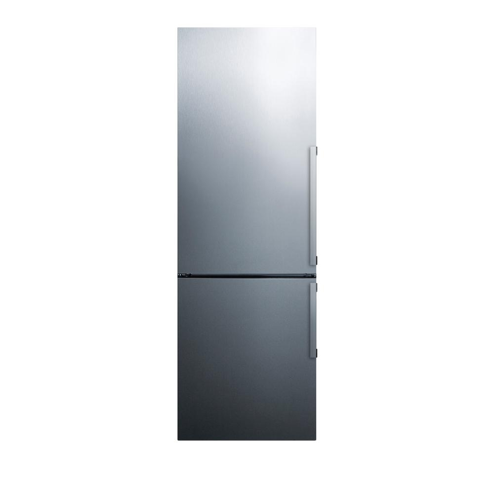 24 in. 11 cu. ft. Bottom Freezer Refrigerator in Stainless Steel,