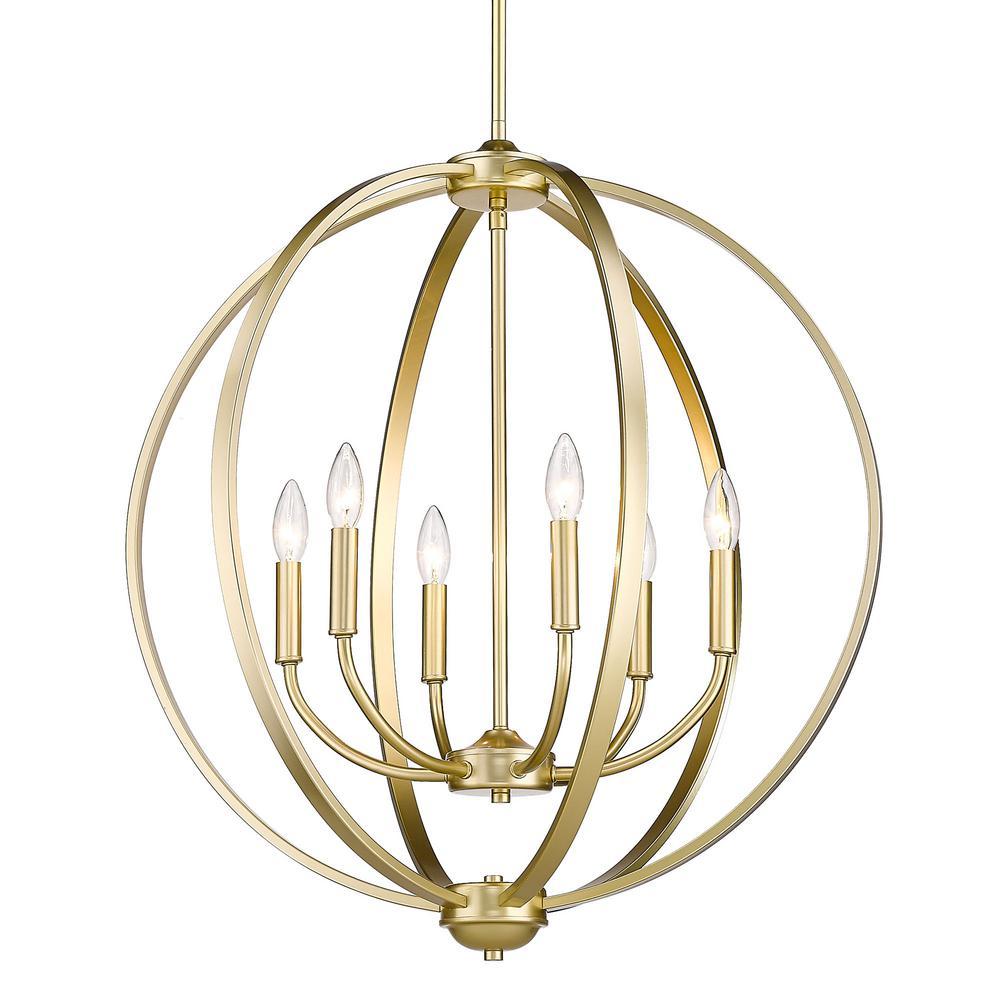 Colson 6-Light Olympic Gold Globe Chandelier