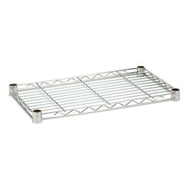 1 in. H x 24 in. W x 14 in. D 250 lb. Capacity Freestanding Steel Shelf in Chrome