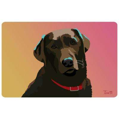 Printed Chocolate Lab 32 17.5 in. x 26.5 in. Mat