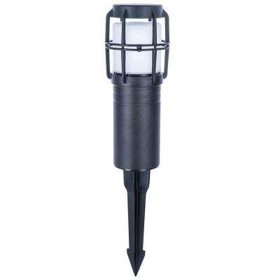 Low-Voltage LED Black Bollard Light