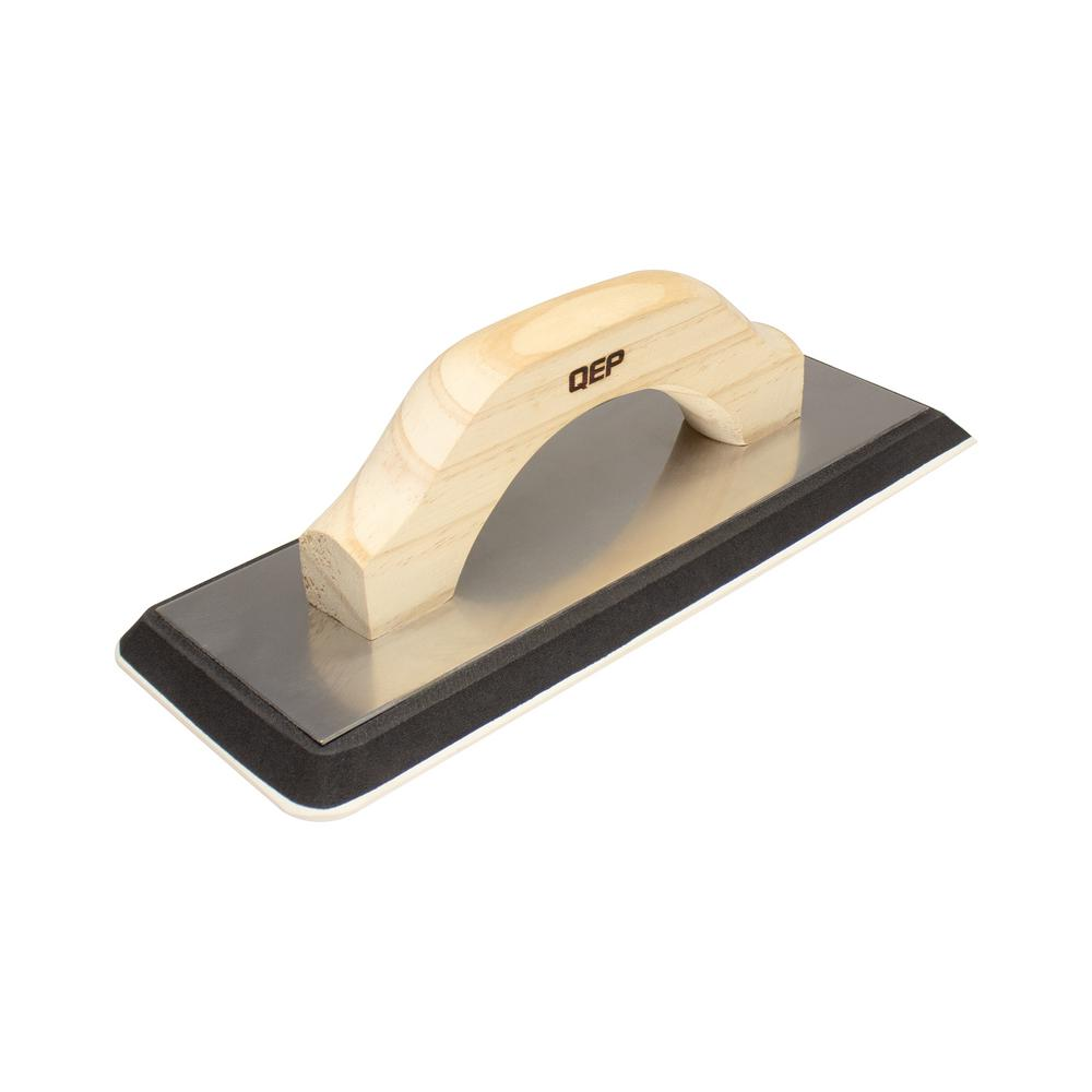 QEP 4 in. x 10.5 in. XL Non-Stick Gum Rubber Grout Float with Wood Handle